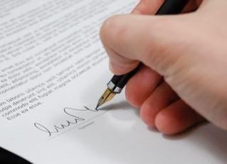 Signature de la contrainte